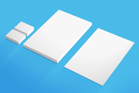A4 Business Card MockUp