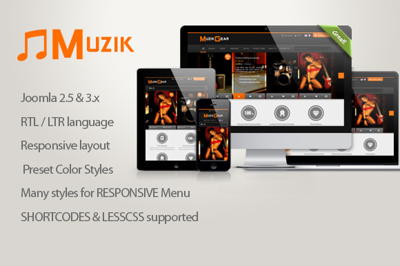 SJ Muzik With JoomShopping Supported