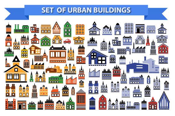 Set Of Urban Buildings