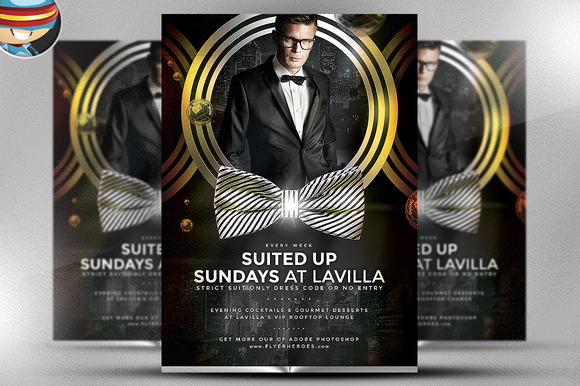 Suited Up Sundays Flyer Template