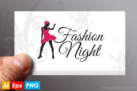 Fashion Night Logo Templante