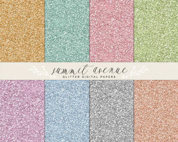 Digital Glitter Papers Patterns