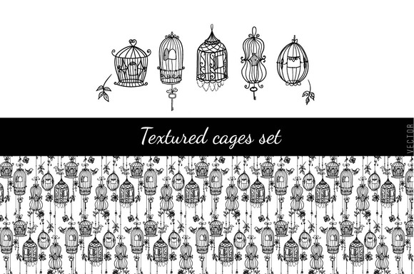 Textured Cages Set