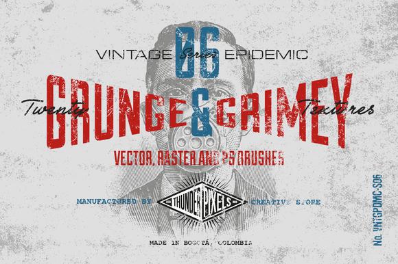 20 Grunge Grimey Textures VES06