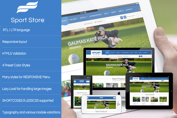 SJ Sport Store With JoomShopping