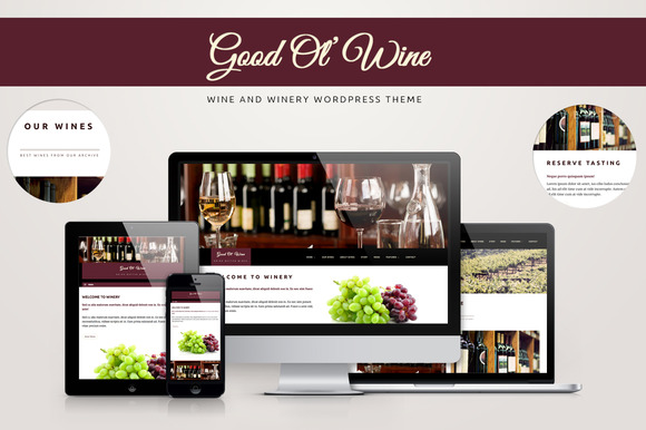 Good Ol Wine Wine WordPress Theme