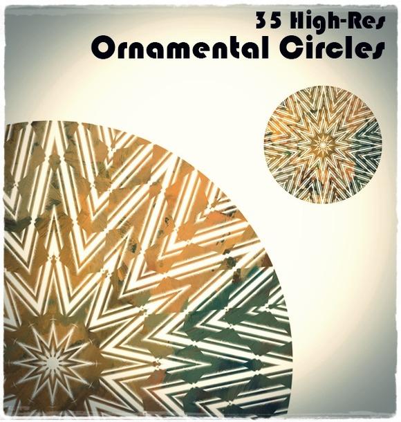 Ornamental Circles Photoshop Brushes