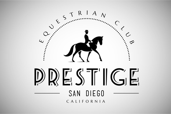 Horse Club Vintage Logo