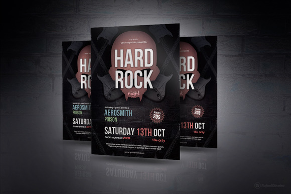 Hard Rock Night Flyer