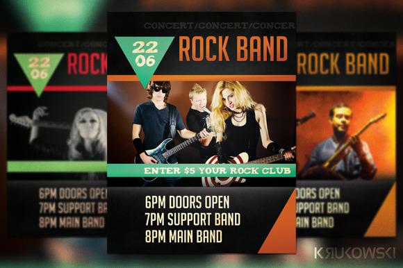 Rock Band Concert Flyer