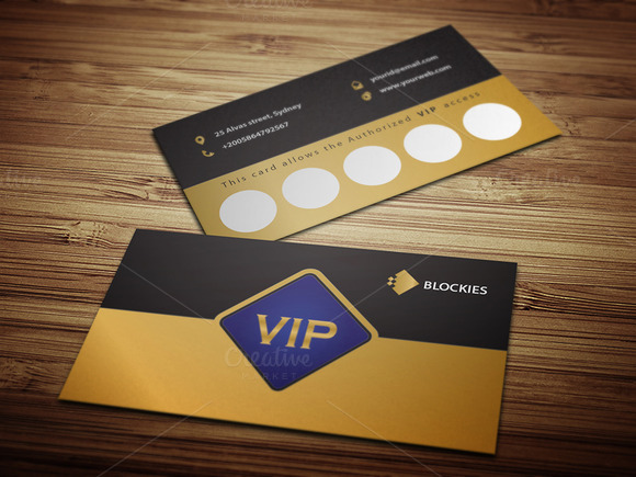 vip loyalty card template psd designtube creative design content. Black Bedroom Furniture Sets. Home Design Ideas