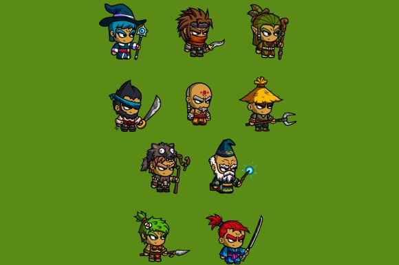Cartoon RPG Characters