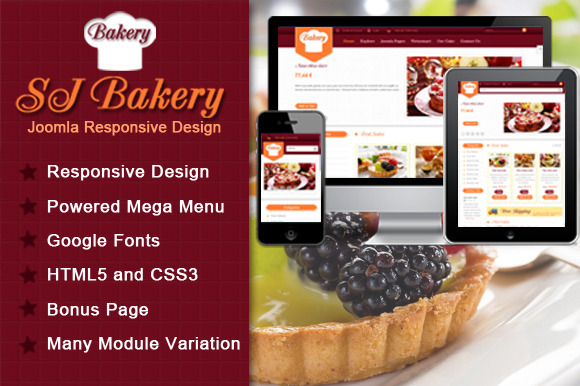 SJ Bakery Best Template For Food