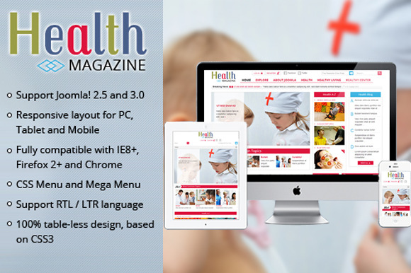 SJ Health Medical Magazine Template