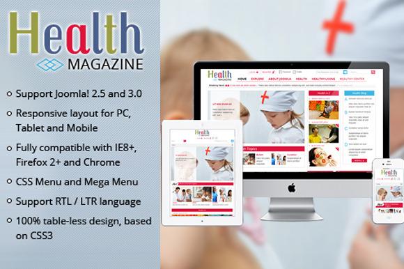 SJ Health Medical Magazine Template