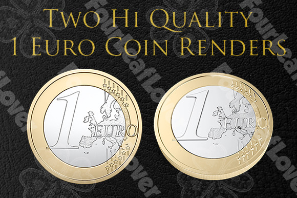 One Euro Coin Renders
