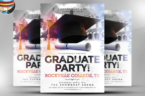 Graduate Party Flyer Template