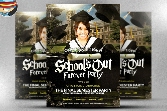 School��s Out Forever Flyer Template