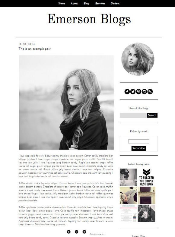 Emerson Blogger Blog Template
