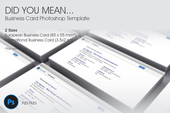 Did You MeanЎ­ Business Card Template