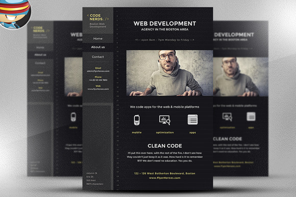 Code Nerds Flyer Template