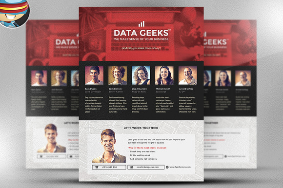 Data Geeks Flyer Template