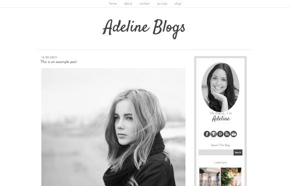 Adeline Blogger Blog Template