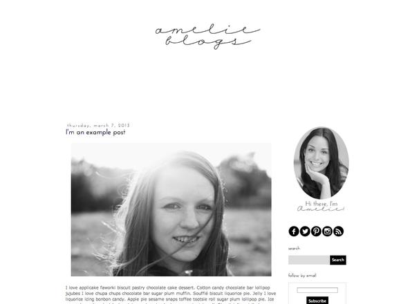 Amelie Blogger Blog Template