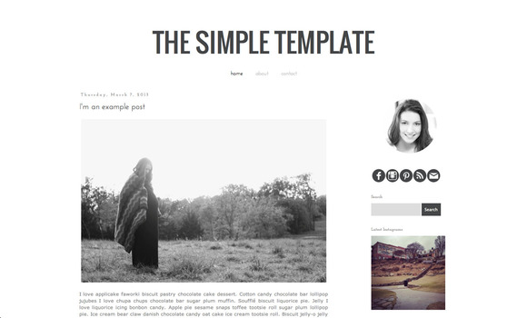 The Simple Blogger Blog Template