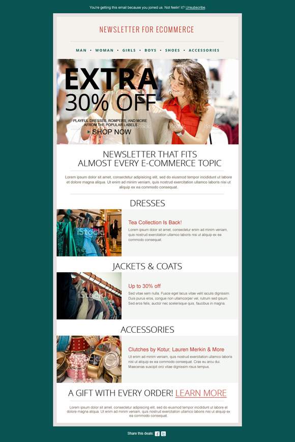 Fashion Ecommerce Newsletter PSD