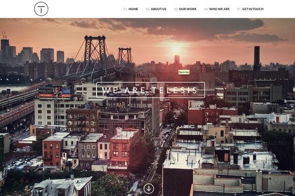 Telesis One Page WordPress Theme