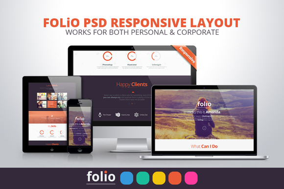 Folio PSD Multipurpose Website