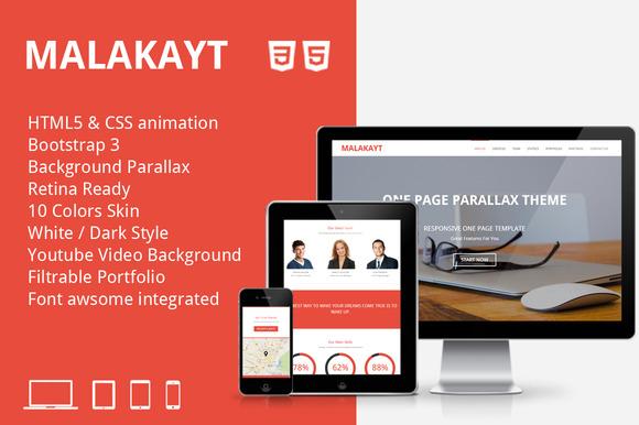 Malakayt One Page Bootstrap Template