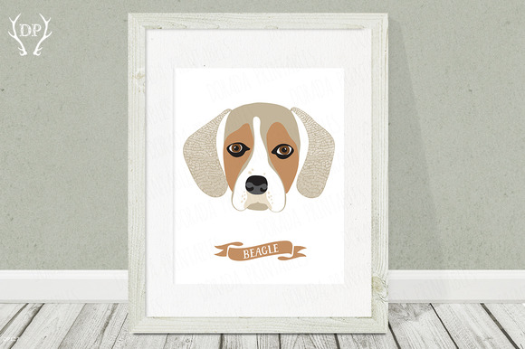 Beagle Dog Breed Print Pet Wall Art