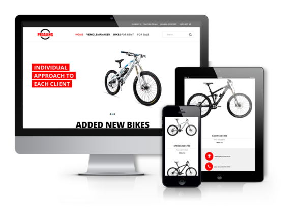 Pedaling Bike Joomla Template