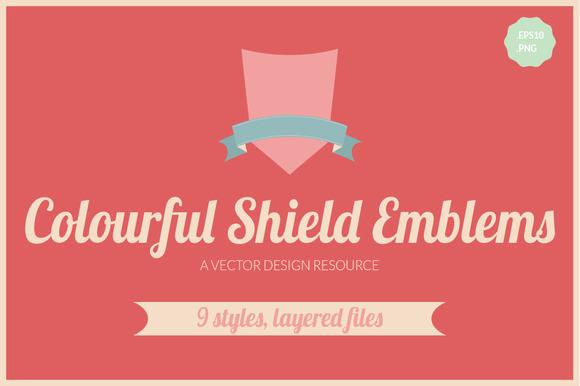 Bright Shield Emblems Badges