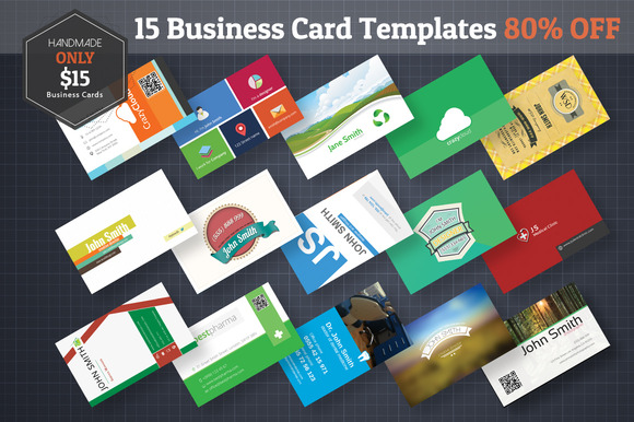 15 Business Cards 80% Off