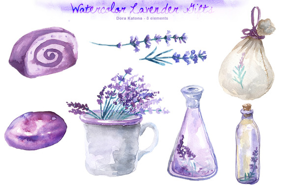Watercolor Lavender Gifts