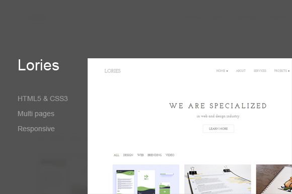 Lories Portfolio Agency Template