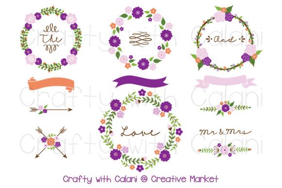 Purple Wedding Flower Wreath