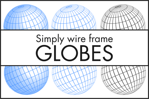 Simply Wire Frame Globes Small