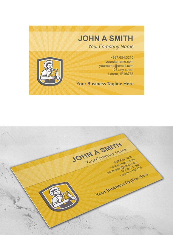 Business Card Template Female Baker