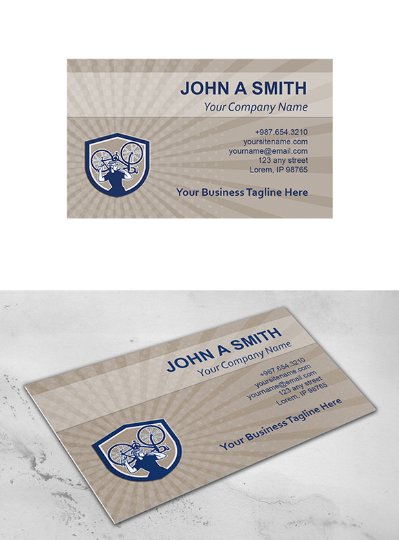 Business Card Template Bicycle Mecha