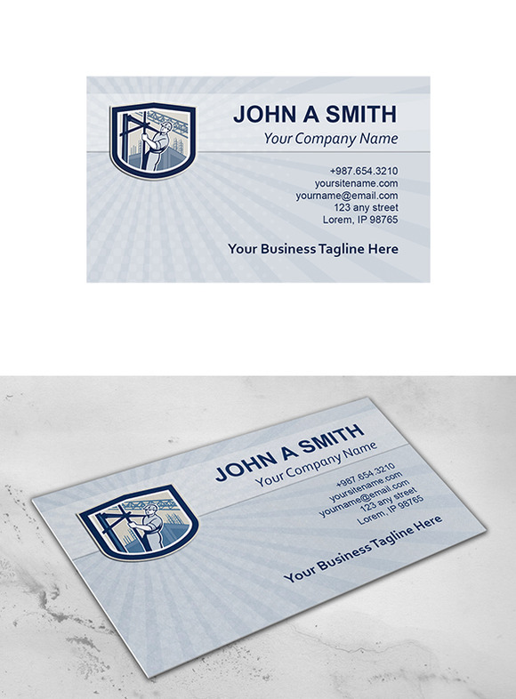 Business Card Template Construction