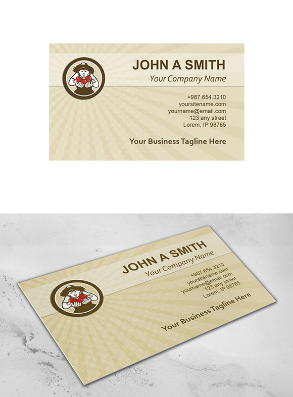 Business Card Template Organic Tomat