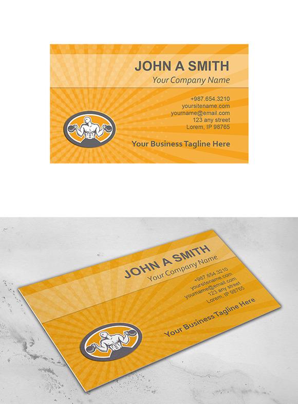 Business Card Template Bodybuilder L