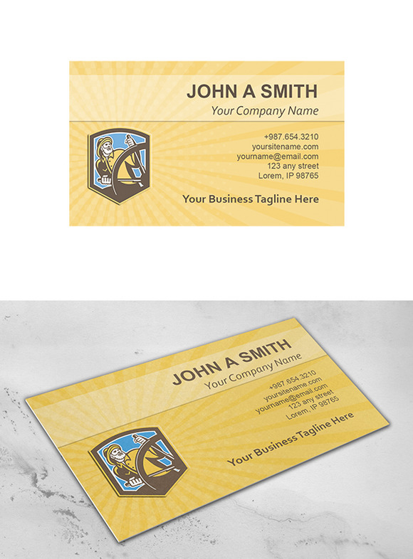 Business Card Template Sea Captain F