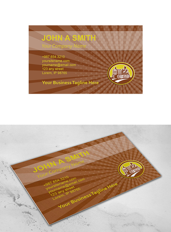 Business Card Template Farmer Drive