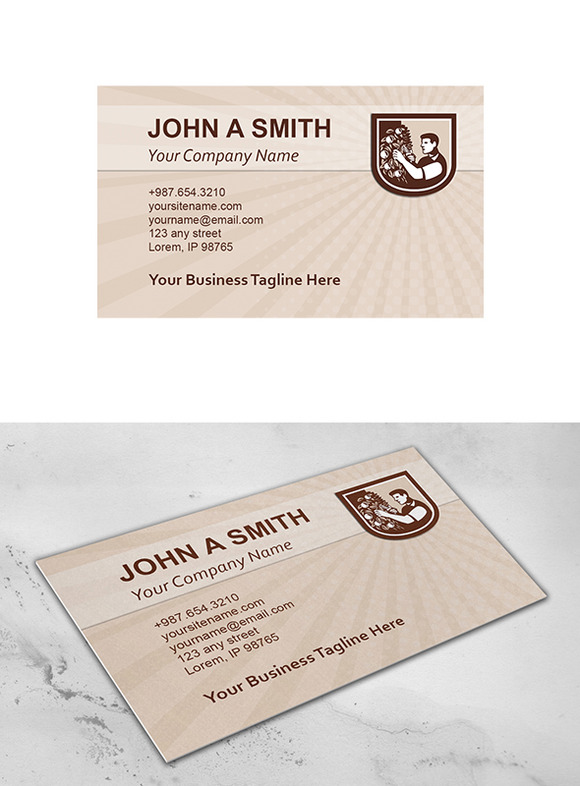 Business Card Template Grower Orchar