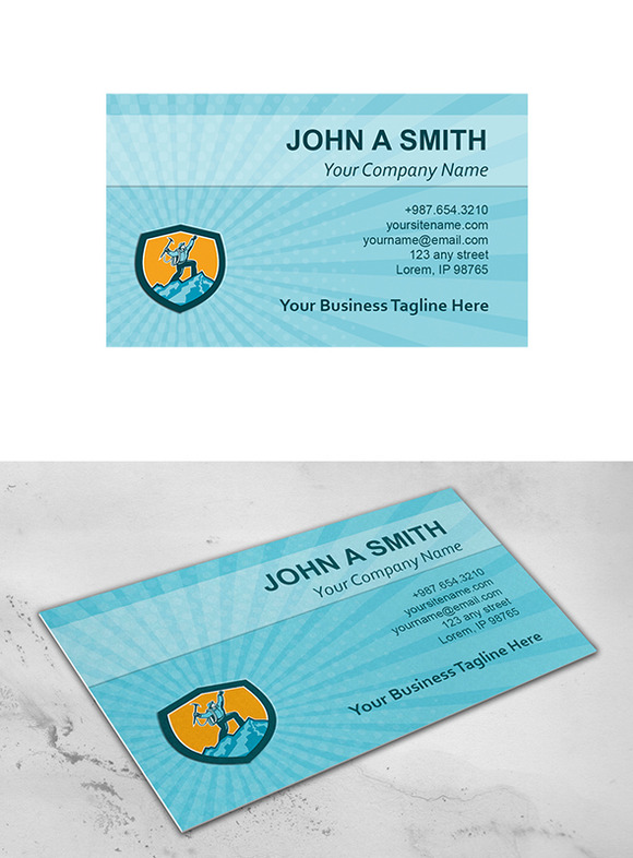 Business Card Template Mountain Clim